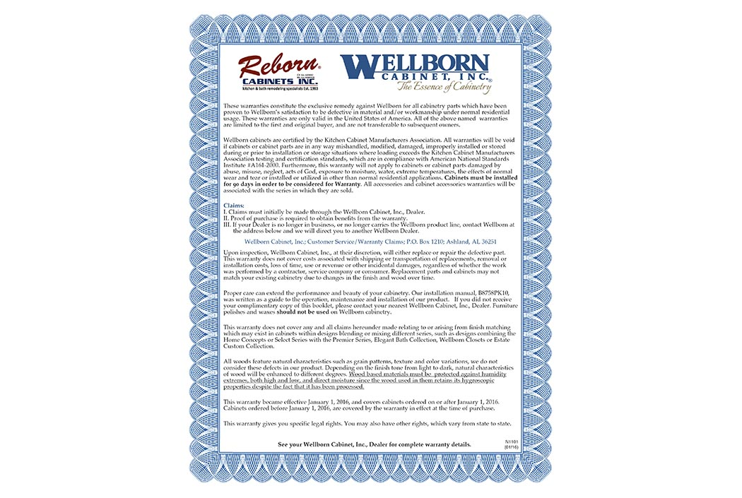 Wellborn Offers Reborn Cabinets Customers A Wonderful Selection Of Kitchen  And Bath Cabinetry Styles In Addition To And Lifetime Warranty!