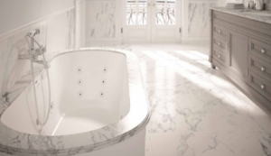 Marble Bathroom with Jacuzzi Jetted Tub